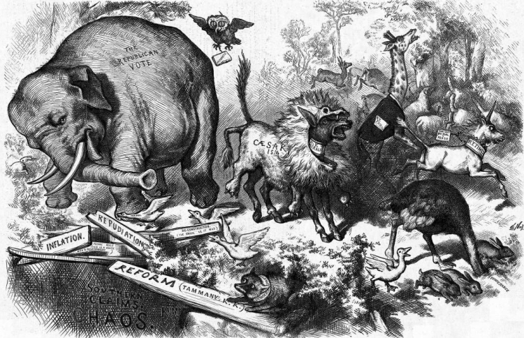 Image result for thomas nast elephant cartoon
