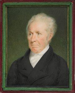 Gilbert Stuart portrait by Sarah Goodridge, 1825