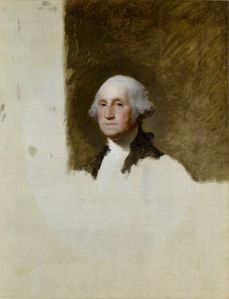 Gilbert Stuart's unfinished 1796 painting of George Washington, also known as The Athenaeum.