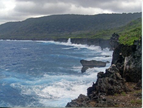 Rugged coastline of Christmas Island
