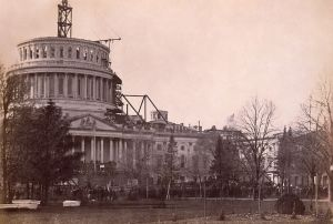 Inauguration of Abraham Lincoln at the Capitol on March 4, 1861