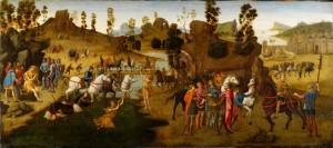 """""""Julius Caesar and the Crossing of the Rubicon,"""" Francesco Granacci, 1494"""