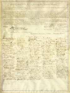 This rare document is one of only thirteen copies signed by President Abraham Lincoln, Vice President Hannibal Hamlin, thirty-seven senators, and 111 congressmen who supported the resolution.