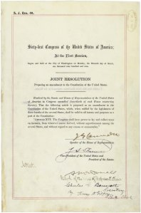 The Sixteenth Amendment in the National Archives