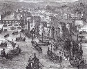 19th century German portrayal of the Viking siege of Paris