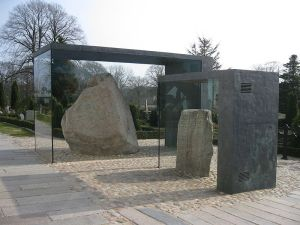 Jelling Stones, in their glass casing