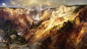 The Grand Canyon of the Yellowstone painting by Thomas Moran