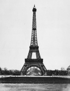 The Eiffel Tower in March of 1889
