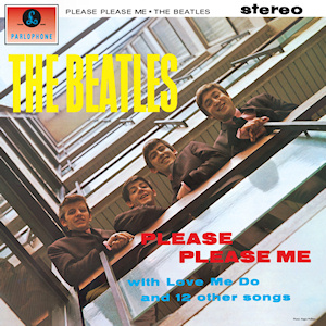 This is the cover art for the album Please Please Me by The Beatles
