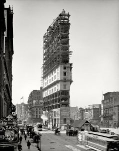 The New York Times Tower under construction in 1903