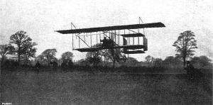 Louis Paulhan landing his Farman III biplane at Didsbury, Manchester, winning the Daily Mail1910 London to Manchester air race.