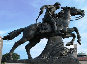 Pony Express statue in St. Joseph, Missouri