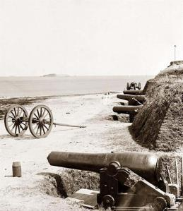 East Battery of Confederate Fort Johnson, where Lt. Henry Farley fired the first shot of the American Civil War.