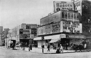 The island plot at the north corner of 42nd St and Broadway in 1898, now occupied by One Times Square, site of the annual ball drop on New Year's Eve.