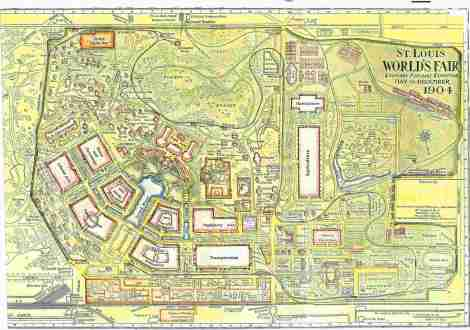 Map of the St. Louis World's Fair