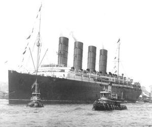 RMS Lusitania in 1907