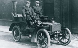 The first Rolls-Royce car in 1904.