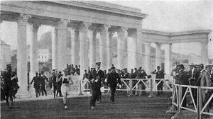 The finish of the 1906 Olympic Marathon